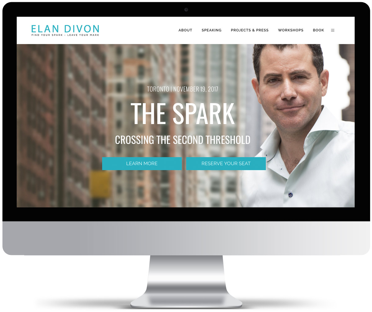 Elan Divon Author speaker Website design and development